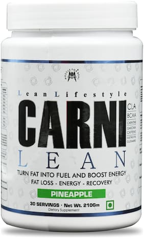 Monster Series CARNI LEAN Pineapple, Weight Loss Supplement, Fat Burner, Muscle Recovery, Pre & Post workout Supplement, 30 Serving,210 g