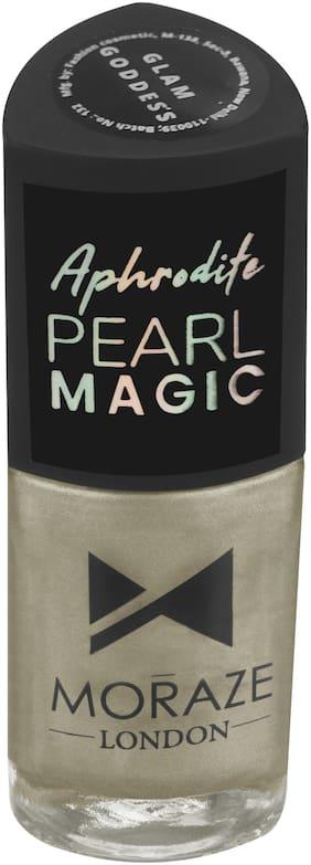 Moraze Aphrodite Pearl Magic Nail Polish   Nail Paint   Nail Enamel   Glossy Nail Paint   Long Lasting Nail Polish   Nail Lacquer   for Girls  8.5 ML   Paraben Free   Shade- Magic Glam Goddess
