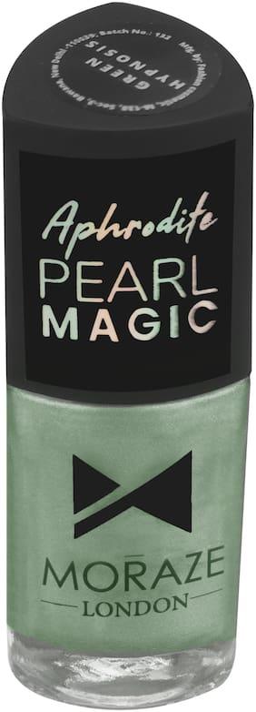 Moraze Aphrodite Pearl Magic Nail Polish   Nail Paint   Nail Enamel   Glossy Nail Paint   Long Lasting Nail Polish   Nail Lacquer   for Girls  8.5 ML   Paraben Free   Shade- Magic Green Hypnosis
