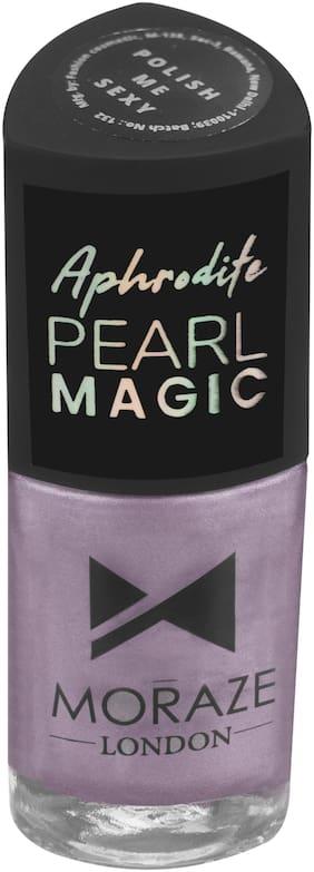 Moraze Aphrodite Pearl Magic Nail Polish   Nail Paint   Nail Enamel   Glossy Nail Paint   Long Lasting Nail Polish   Nail Lacquer   for Girls   8.5 ML   Paraben Free   Shade- Polish Me Sexy