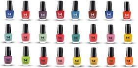 Moraze Paint Your Own Rainbow Nail Enamel   Pack of 24 Vegan Nail Polish   Quick Dry   Long Lasting   Paraben Free   No Toxins   5 ML Each