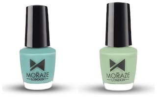 Moraze Paint Your Own Rainbow | Premium Glossy Nail Paint Combo| Set of 2 | Vegan Nail Paint | Nail Polish | Nail Paints | for Girl, Women | 5 ML Each