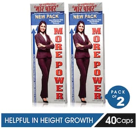 More Power Height Growth Capsules, 40Caps, Pack of 2