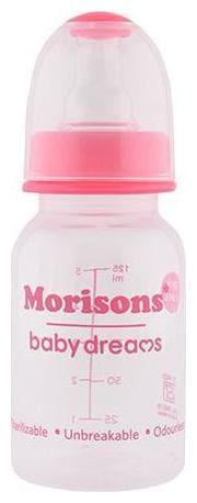 Morisons Baby Dreams Regular PP Feeding Bottle - Pink 125 ml 1 pc