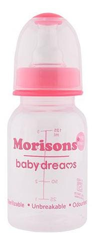 Morisons Baby Dreams Regular PP Feeding Bottle - Pink 125 ml 1 pc