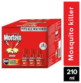 Mortein Insta 5 Plug-In Mosquito Repellent Refill (Pack of 6,35 ml each)