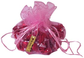 Moshiks Crackle Dark Chocolate 400g In A Pink Potli