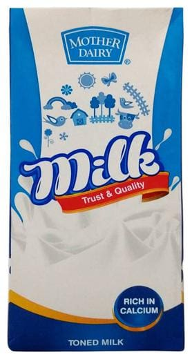 Mother dairy Toned Milk 1 L