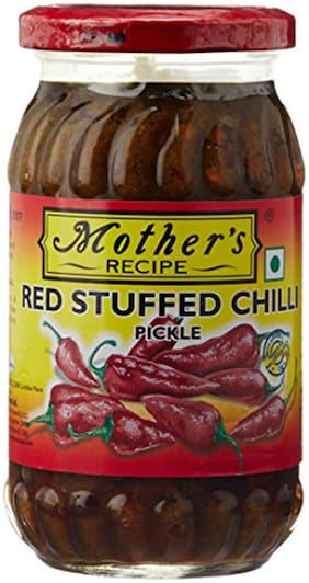 Mother'S Recipe Stuffed Red Chilli Pickle 400Gm