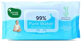 Mother Sparsh 99% Water 72 pcs Baby Wipes (Pack of 1)