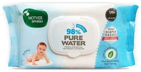 Mother Sparsh 98% Water 80 Scented Baby Wipes (Pack of 2)