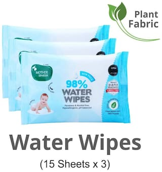 Mother Sparsh Baby Water Wipes 15 pcs (Pack of 3)