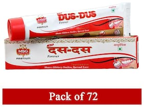 MSG Ayurvedic Dus-Dus (10-10) Toothpaste 100g (Pack of 72)