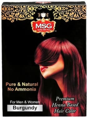 MSG Henna Based Hair Burgundy Color 60g