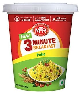 Mtr 3 Minute Instant Poha Cup 80 Gm