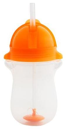 Munchkin Any Angle Weighted Straw Sipper Cup - Orange, 12 m+ 295 ml