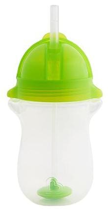 Munchkin Any Angle Weighted Straw Sipper Cup - Green, 12 m+ 295 ml