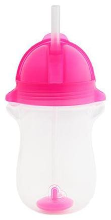Munchkin Any Angle Weighted Straw Sipper Cup - Pink, 12 m+ 295 ml