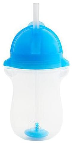 Munchkin Any Angle Weighted Straw Sipper Cup - Blue  12 m+ 295 ml
