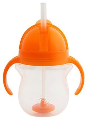 Munchkin Click Lock Weighted Flexi Straw Sipper Cup - Orange  6 m+ 207 ml