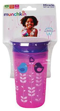Munchkin Miracle 360 Degree Decorated Sipper Tumbler - Pink Bird  9 m+ 266 ml