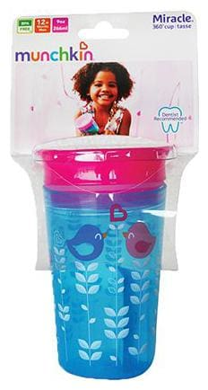 Munchkin Miracle 360 Degree Decorated Sipper Tumbler - Blue Bird  9 m+ 266 ml
