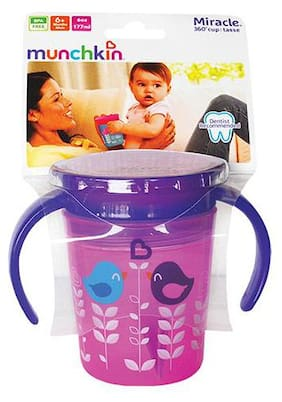 Munchkin Miracle 360 Deco Sipper Cup - Pink Bird, 6 m+ 177 ml