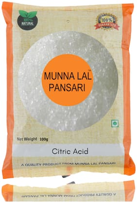 Munna Lal Citric Acid Crystals | Nimbu Satva | Nimbu phool | Lemon Salt | Tatri 100g