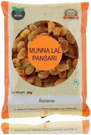 Munna Lal Dried Golden Long Raisins   Kishmish 250g