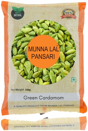 Munna Lal Premium Quality Whole Elaichi/Green Cardamom 100g