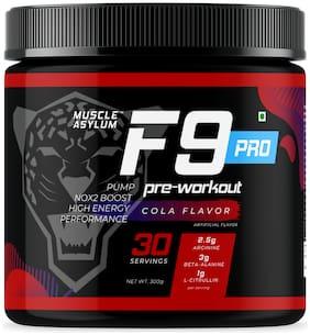 Muscle Asylum F9 Pro Pre-Workout - 30 Servings;300g (Cola)
