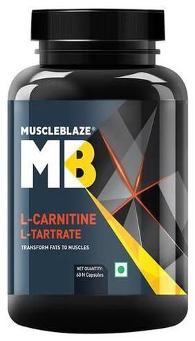 Muscleblaze L-Carnitine L-Tartrate - Unflavoured 60 Capsules