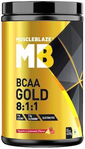 MuscleBlaze BCAA Gold 8:1:1 (Raspberry Lemonade) 450gm