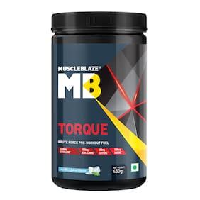 MuscleBlaze Torque Pre-Workout, 1.1 lb Orange (Icy Blue Splash, 450 g)