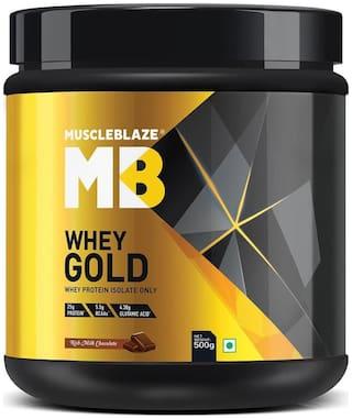 MuscleBlaze Whey Gold (Rich Milk Chocolate, 0.5 kg / 1.1 lb)