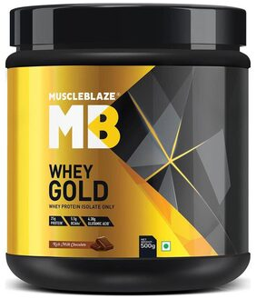 MuscleBlaze Whey Gold (Rich Milk Chocolate, 0.5 Kg / 1.1 lb)