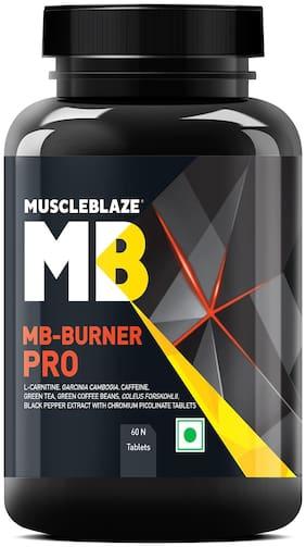 MuscleBlaze Burner PRO | 1000mg L- Carnitine | 400mg Garcinia | Caffeine & Green Tea Extract, 60 tablets Pack of 1