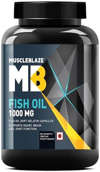 Muscleblaze Fish Oil 1000 mg - 180 Soft Gelatine Capsules