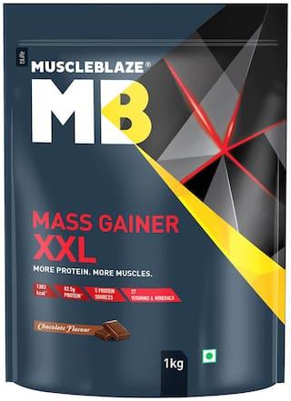 Muscleblaze Mass Gainer XXL 2.2 lb/1 kg - Chocolate