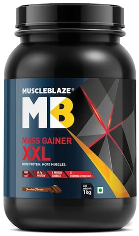Muscleblaze Mass Gainer XXL 2.2 lb/1 kg - Chocolate