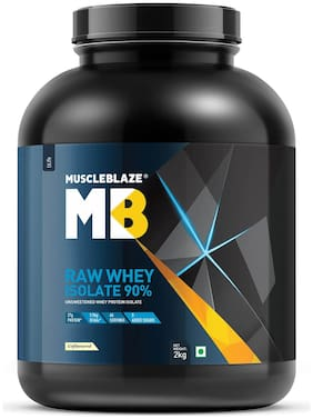 MuscleBlaze Raw Whey Isolate, (Unflavoured, 2 kg / 4.4 lb) Pack of 1