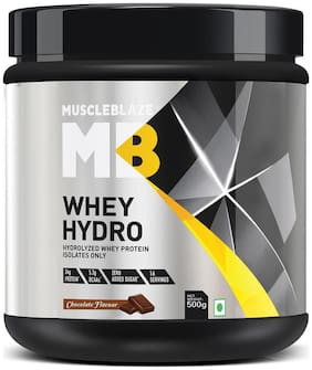 MuscleBlaze Whey Hydro Whey Protein Isolate- Chocolate (0.5 kg) (Pack of 1)