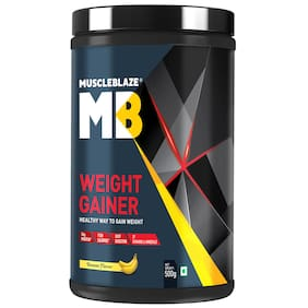 Muscleblaze Weight Gainer 0.49 kg (1.1 Lb)/500 g - Banana