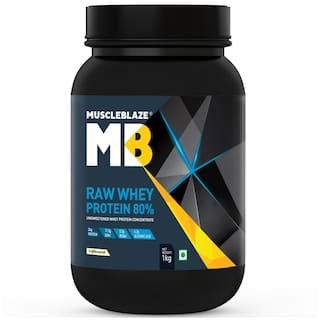 Muscleblaze Raw Whey Protein 80% 2.2 lb/1 kg - Unflavored