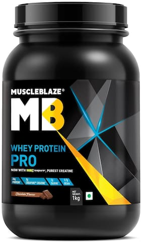MuscleBlaze Whey Protein Pro with Creapure, 2.2 lb Chocolate