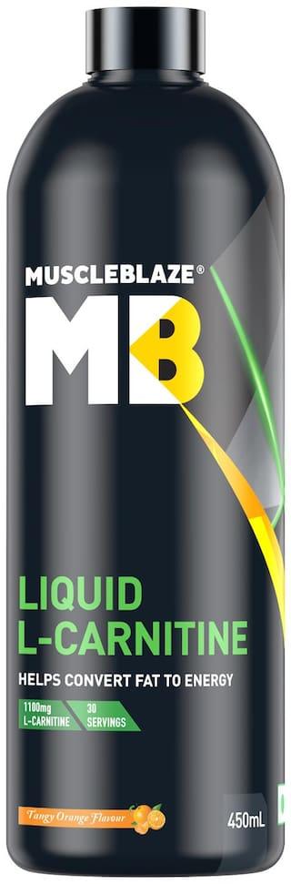MuscleBlaze Liquid L-Carnitine, 450 ml Tangy Orange Pack of 1