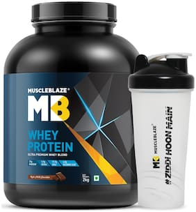 MuscleBlaze Whey Protein with free Shaker, 4.4 lb Rich Milk Chocolate