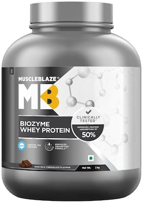 MuscleBlaze Biozyme Whey Protein (2 kg;Rich Milk Chocolate)