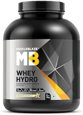 MuscleBlaze Whey Hydro Whey Protein Isolate (2 kg;French Vanilla) (Pack of 1)
