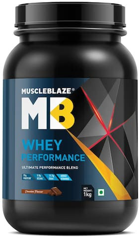 MuscleBlaze Whey Performance (Chocolate, 1 kg / 2.2 lb)